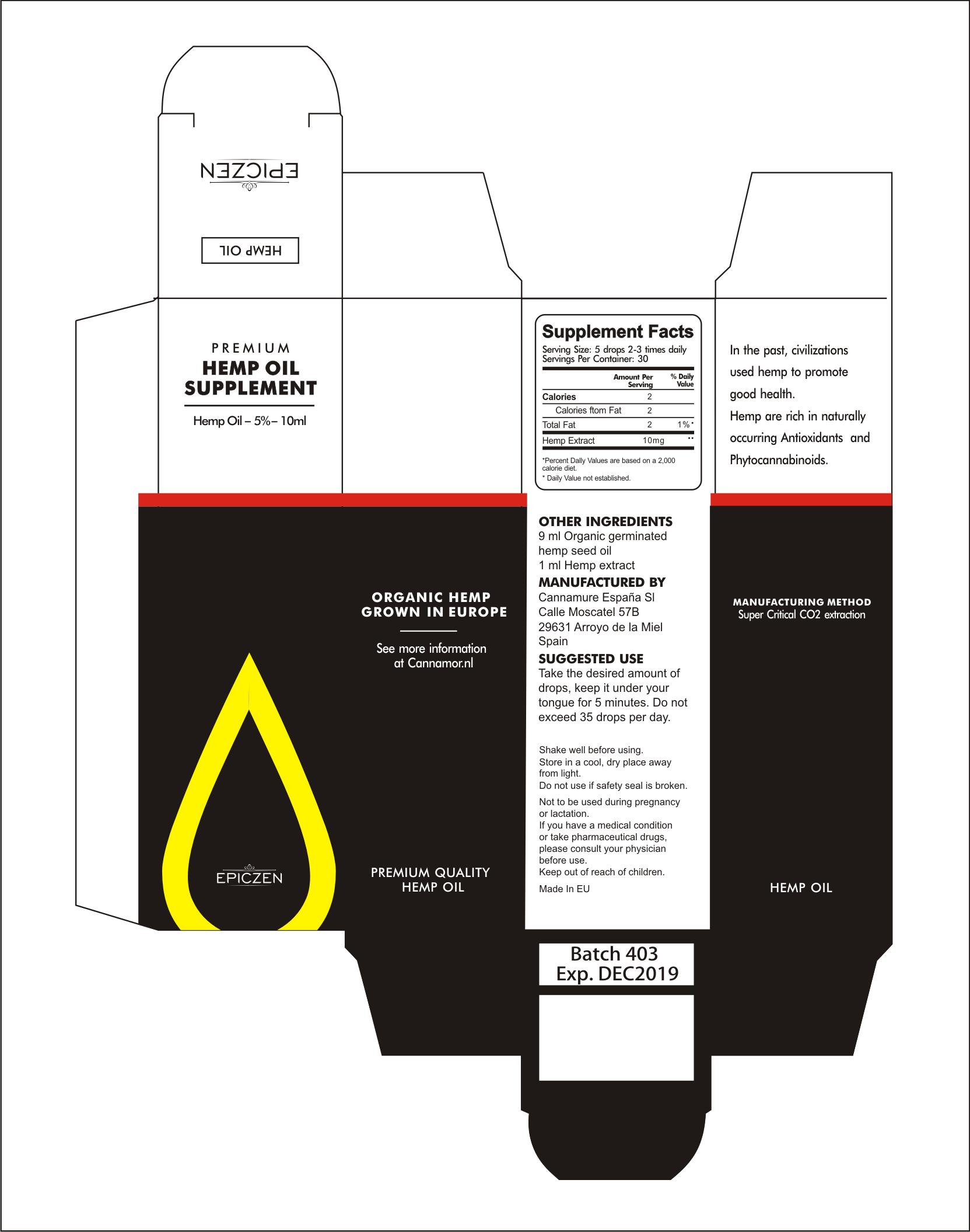 Epiczen Hemp Oil Supplement